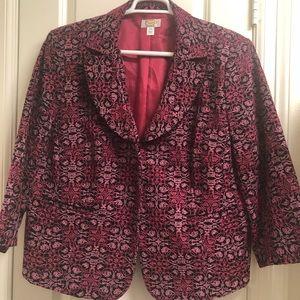 Talbots embroidered blazer jacket